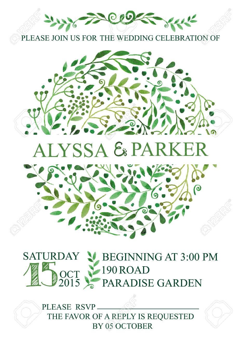 wedding invitation design template