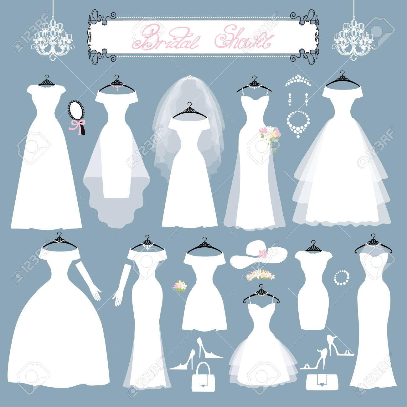 Wedding Dresses In Different Styles.Fashion Bride Dress Made ...