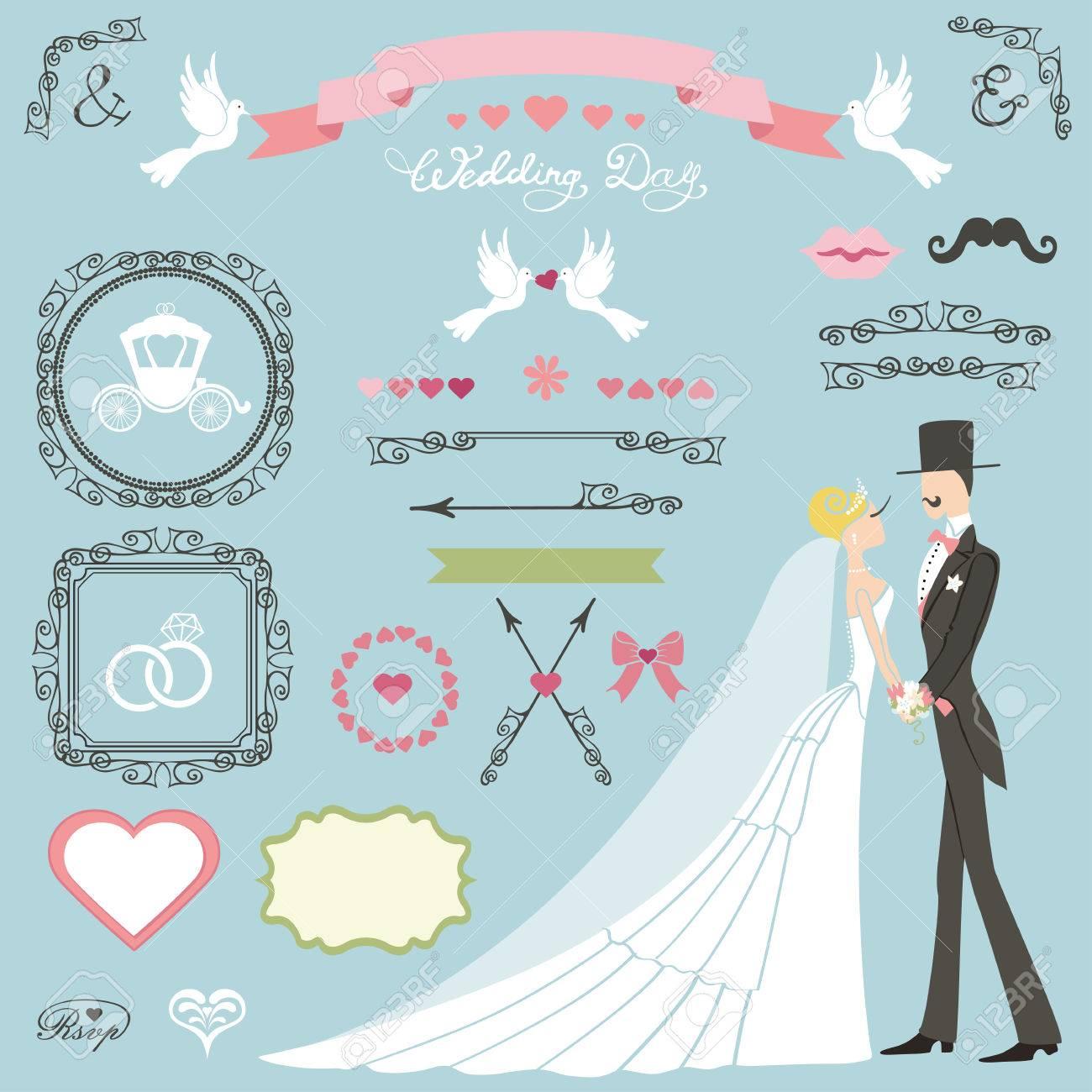 Set.Bride Decoración De La Boda De Vestido Largo, Novio, Pares, Las ...