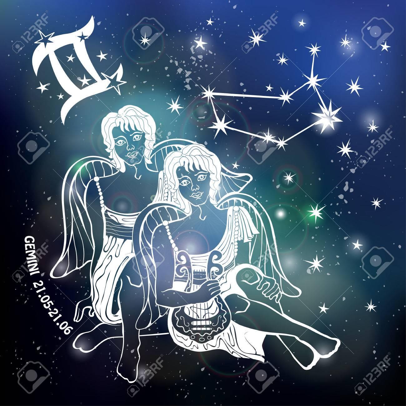 Gemini zodiac signin horoscope constellationstarsabstract gemini zodiac signin horoscope constellationstarsabstract space dark sky blurred background buycottarizona