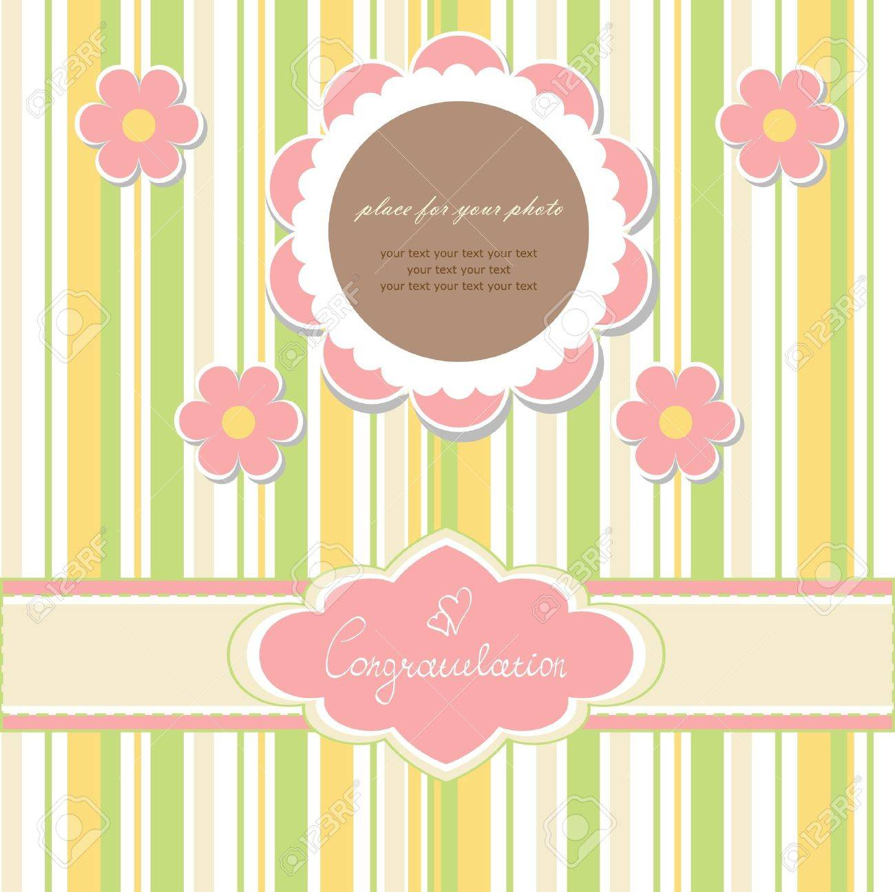 Baby beautiful card Stock Vector - 11674312