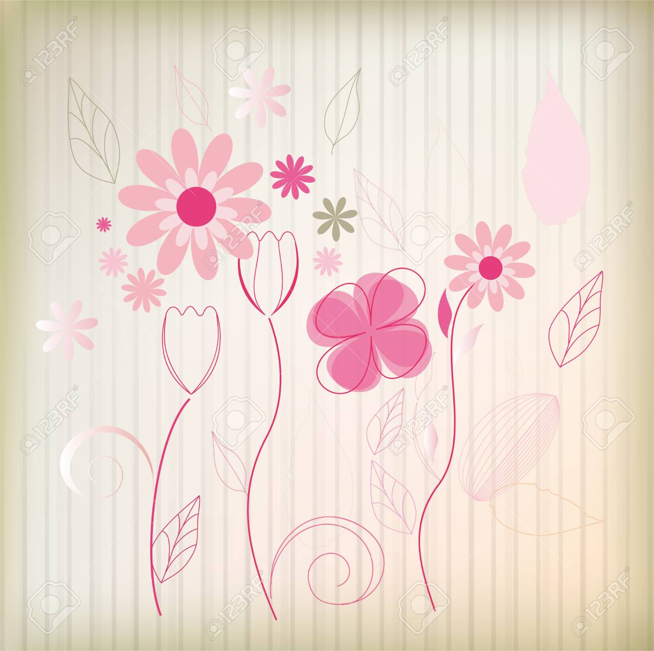 Fashion flower background   vector eps 10 Stock Vector - 14189842