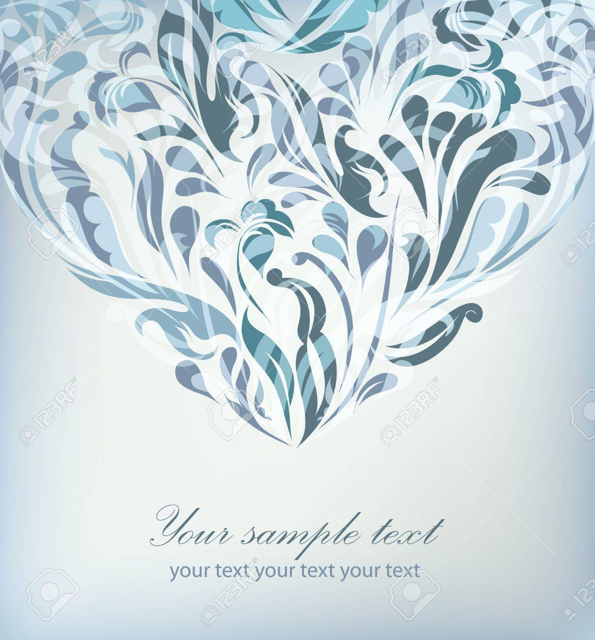 Resumen Fondo Azul Floral Con El Texto De La Tarjeta Invitacion - Fondo-invitacion-boda