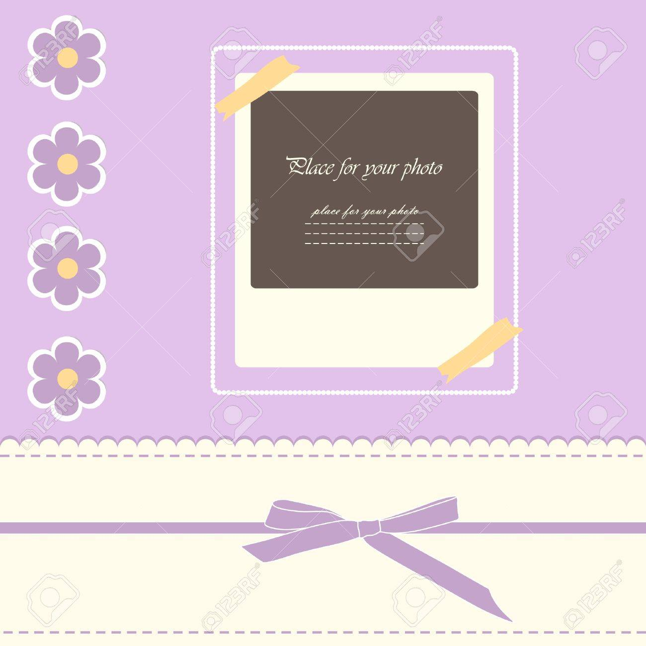 Baby Beautiful Girl Card With Your Text For Invitation, Greeting ...