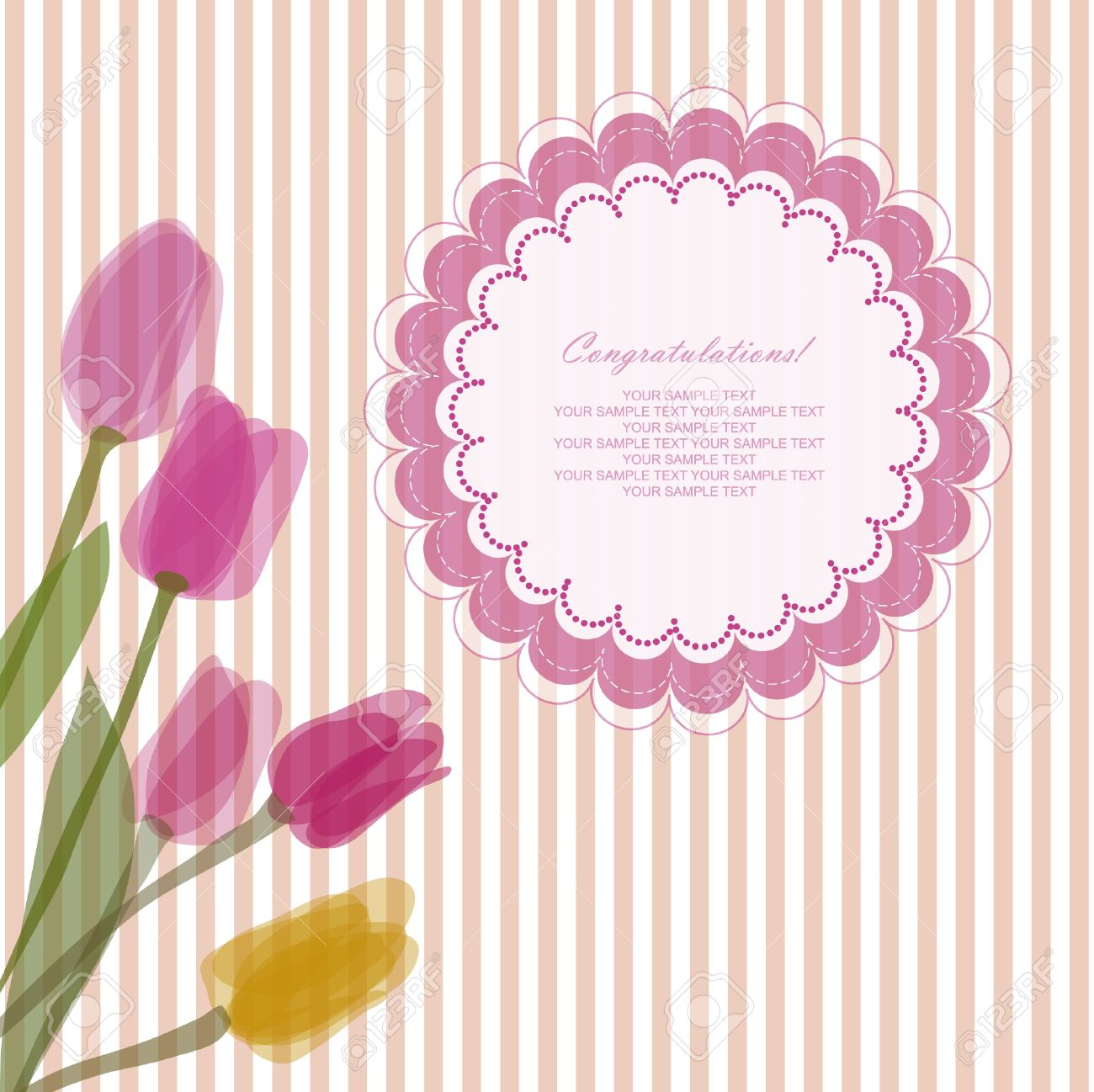 Romantic Baby Retro Card With Your Text For Invitation, Wedding ...