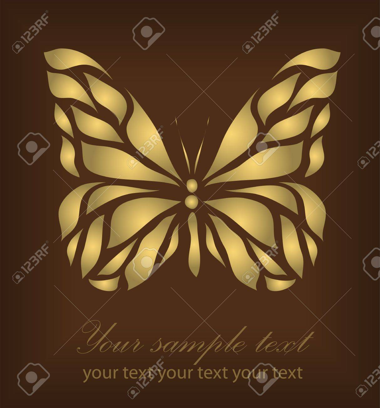 Vintage Ornament isolated on brown background with your text Stock Vector - 14387844
