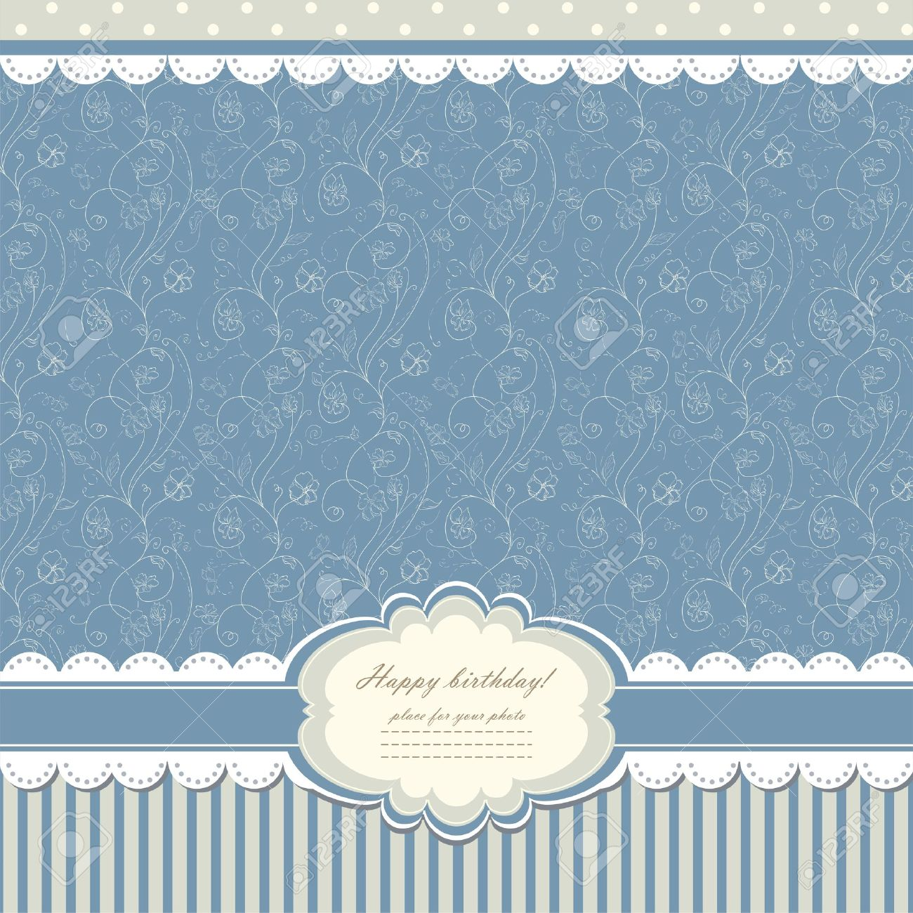 Blue baby vintage background Stock Vector - 14875885