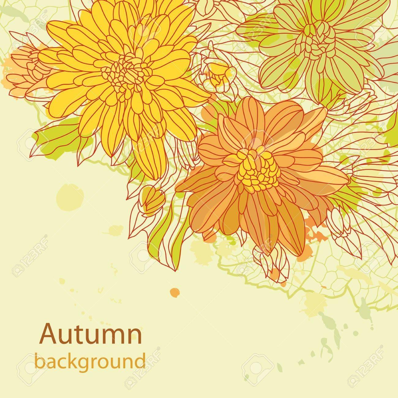 Orange autumn perfect background Stock Vector - 14875877