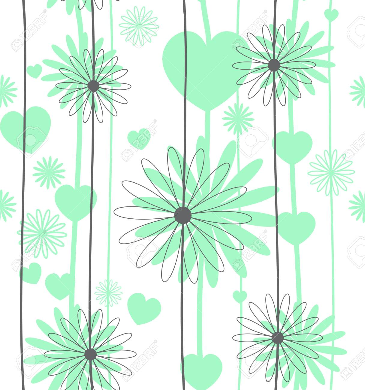 Set floral seamless background Stock Vector - 15273881