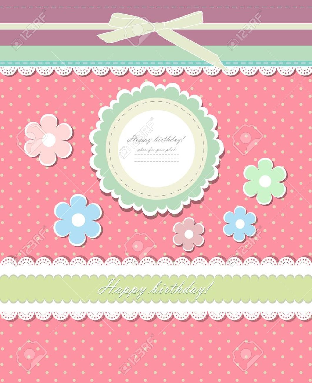 Vintage pink background for invitation Stock Vector - 17988774