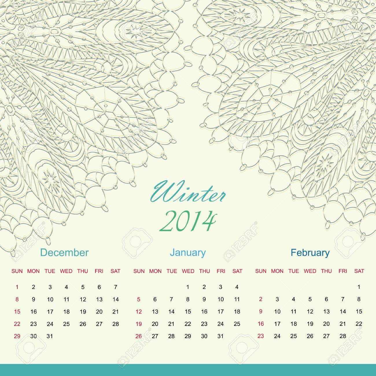 Calender of 2014 year vector Stock Vector - 23979481