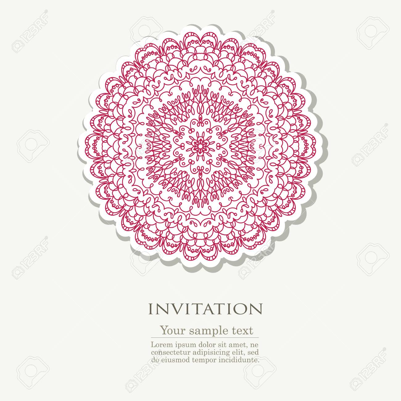 doodle colorful template with element of design vector illustration