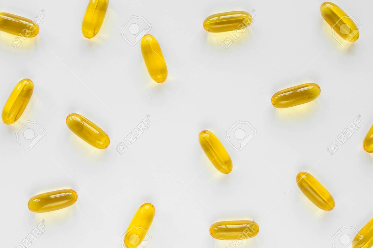 Pattern With Vitamin Capsules With Fish Oil Omega 3 6 9 Vitamin