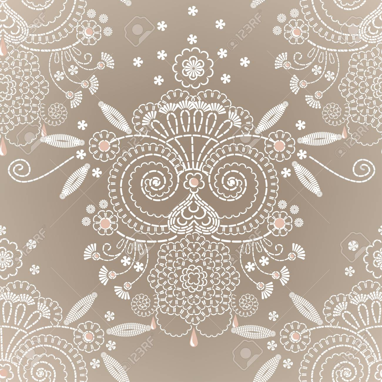 Decorative floral embroidery seamless background. Stock Vector - 13003928