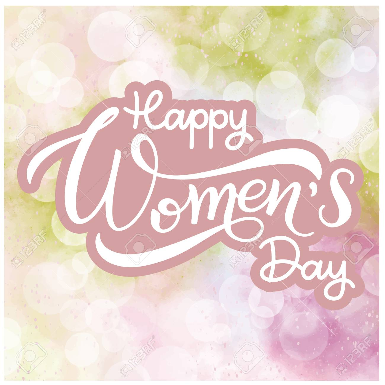 Happy Womens Day Greeting Cards Banner For The International Stock Vector