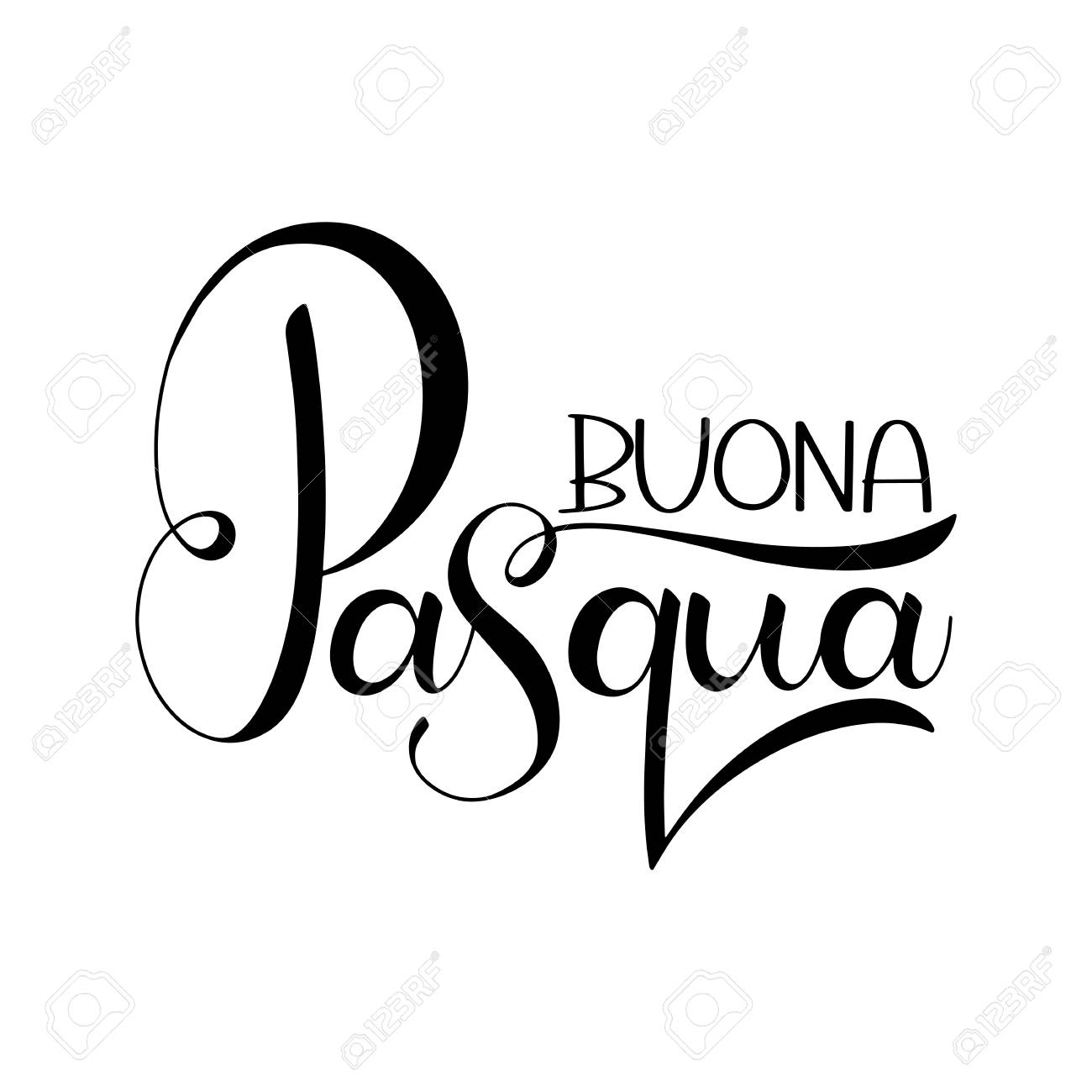 Buona pasqua lettering happy easter colorful lettering in italian buona pasqua lettering happy easter colorful lettering in italian hand written easter phrases m4hsunfo