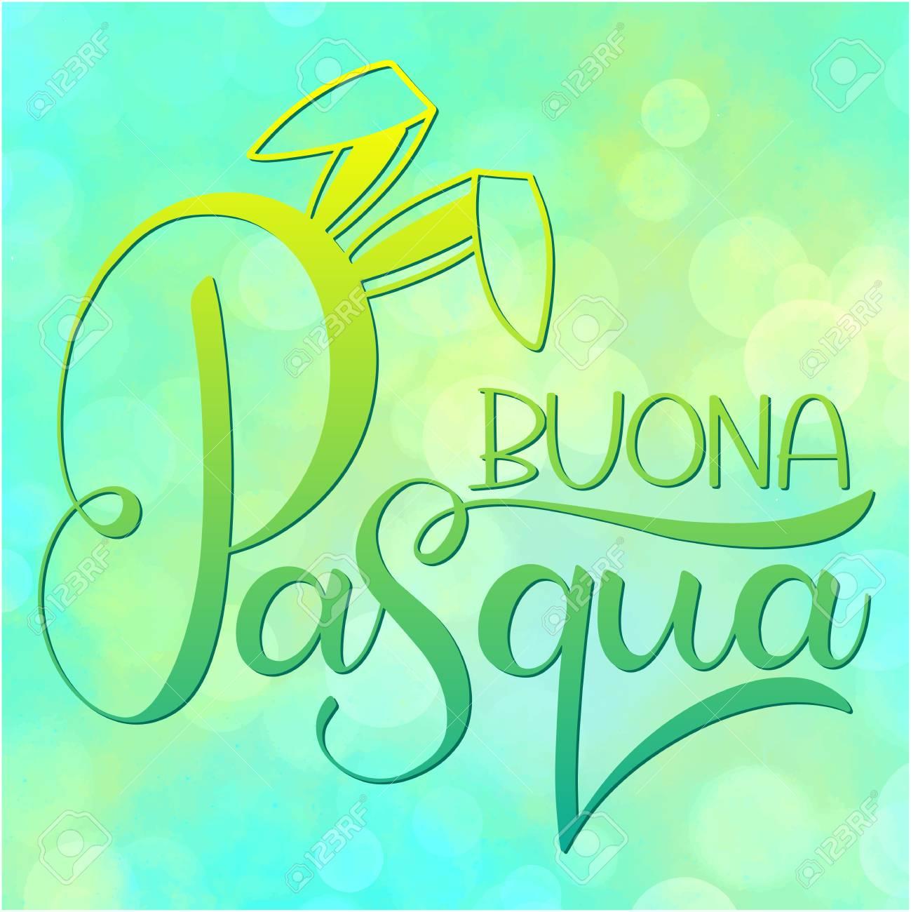 Buona Pasqua Colorful Lettering Happy Easter Colorful Lettering