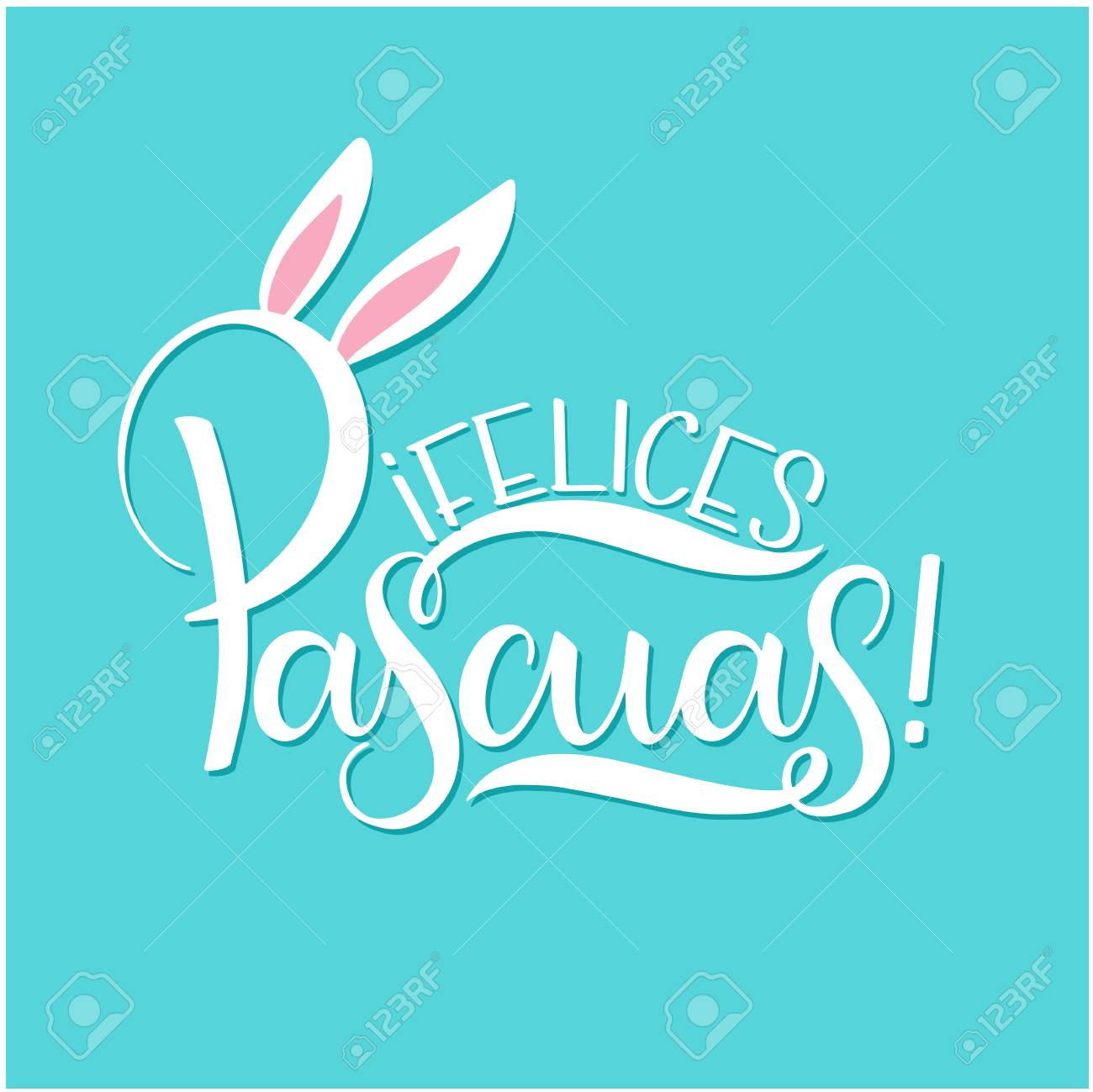 Feliz Pascua Colorful Lettering Happy Easter Lettering In Spanish