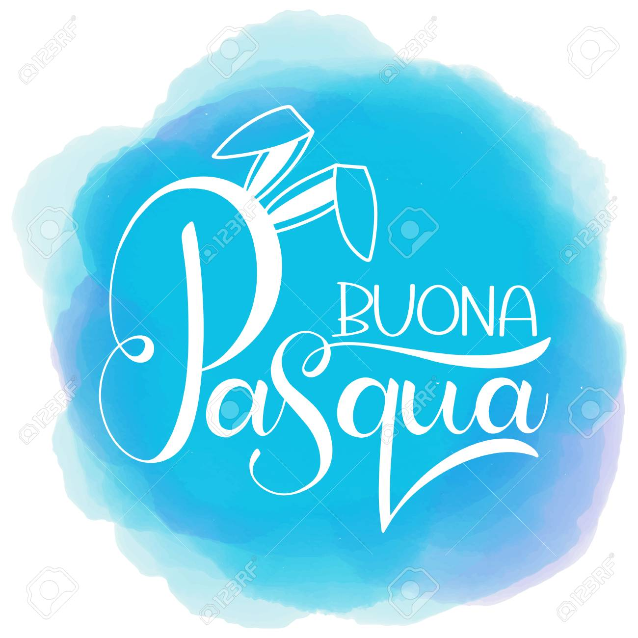 Buona Pasqua Colorful Lettering Happy Easter Colorful Lettering