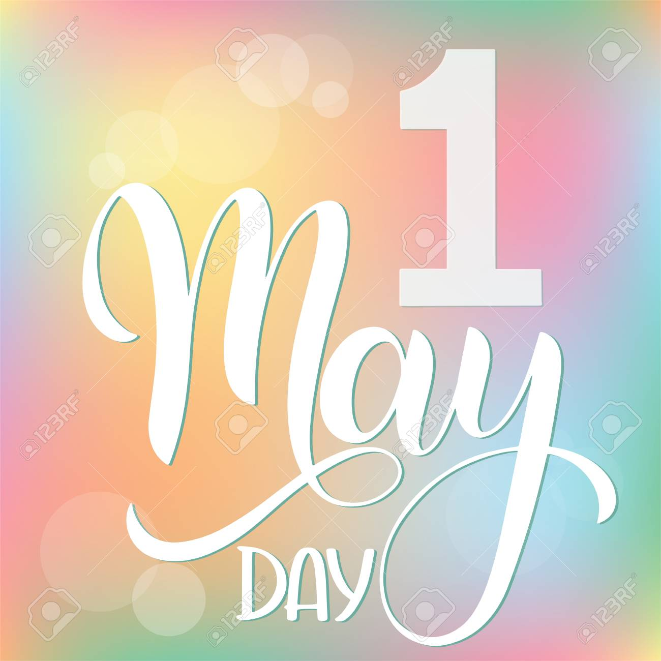 Hello May lettering. Elements for invitations, posters, greeting cards. Seasons Greetings - 104669855