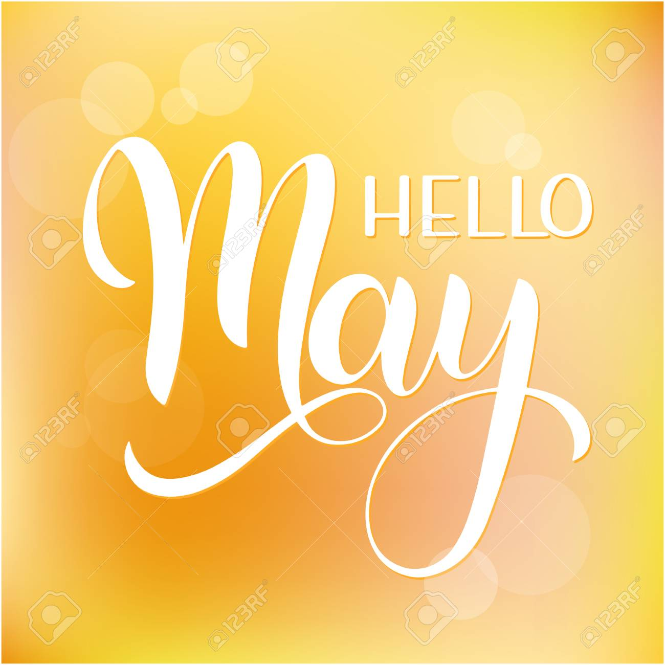 Hello May Lettering Elements For Invitations Posters Greeting