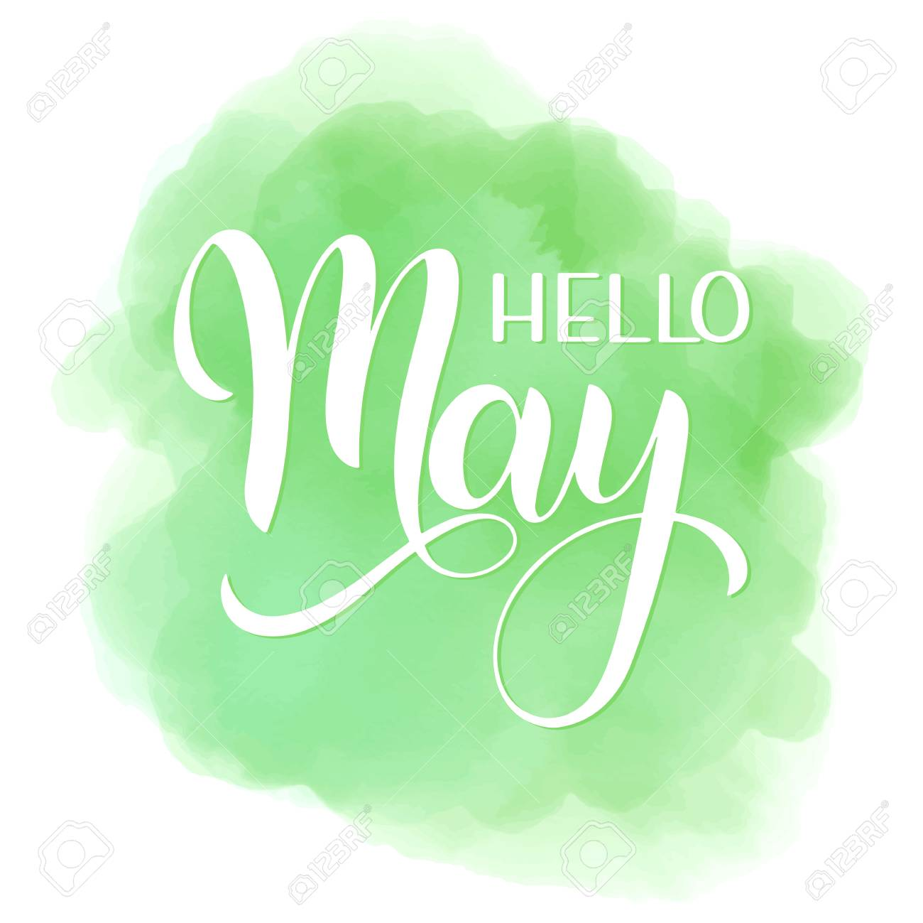Hello May lettering. Elements for invitations, posters, greeting cards. Seasons Greetings - 99299483