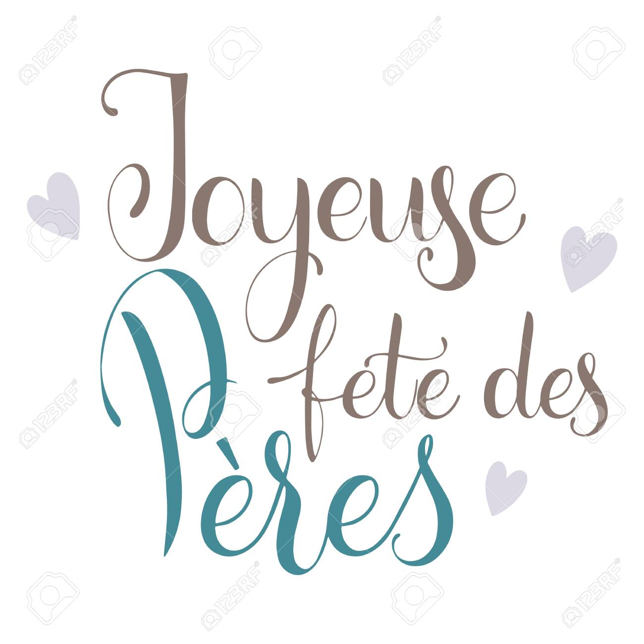 Happy father day lettering happy father day on french greeting happy father day on french greeting card design hand m4hsunfo