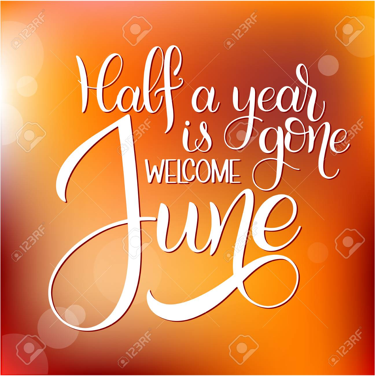 Half a year is gone welcome june hello june lettering elements half a year is gone welcome june hello june lettering elements for invitations m4hsunfo