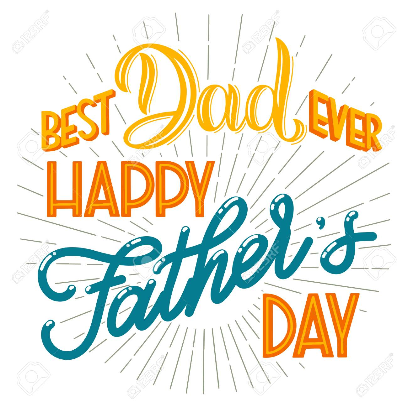 Happy father day lettering greeting card design hand drawn greeting card design hand drawn text elements for invitations m4hsunfo