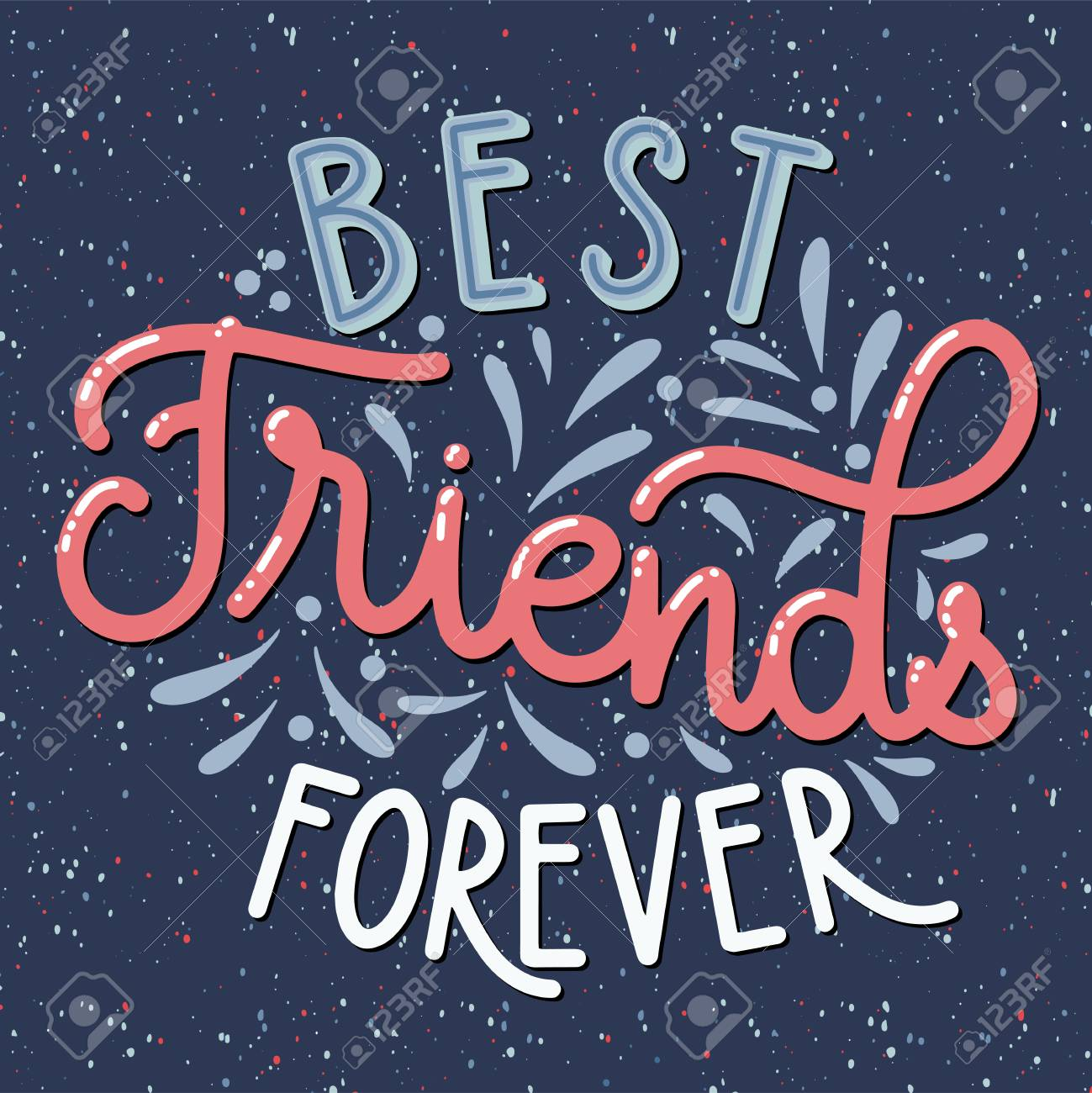 Friendship Day Hand Drawn Lettering Best Friends Forever Vector Royalty Free Cliparts Vectors And Stock Illustration Image 115047518