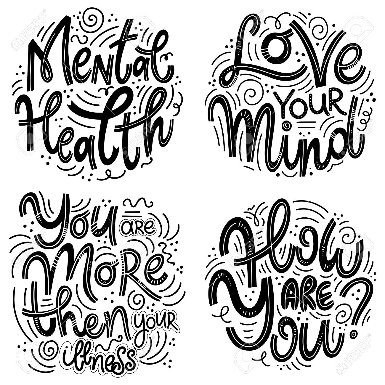 Motivational and Inspirational quotes sets for Mental Health