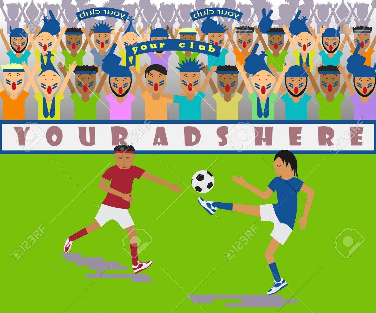 サッカーの試合のイラストのイラスト素材・ベクタ - Image 69017797.
