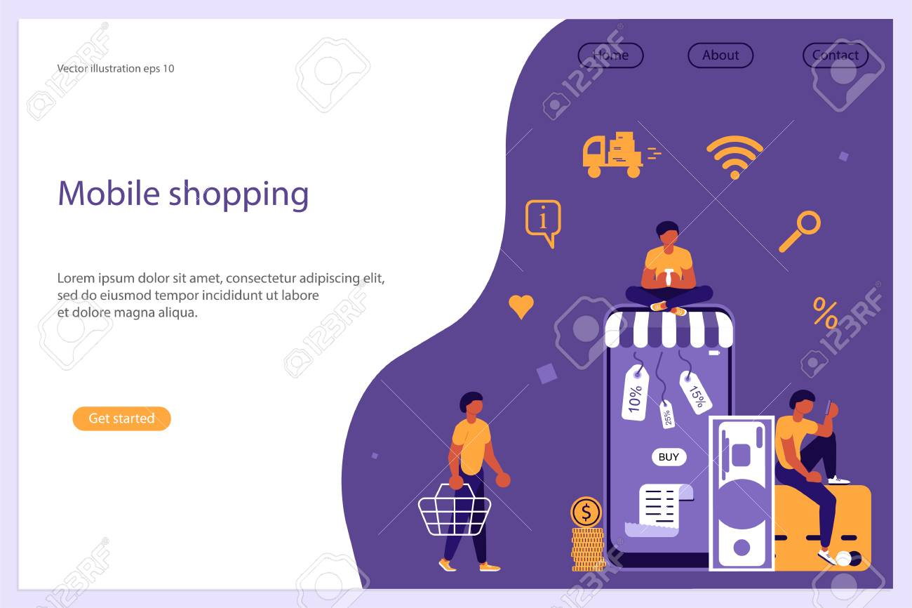 Web Banner Design Template Business People Man And Woman Shop Royalty Free Cliparts Vectors And Stock Illustration Image 110686574