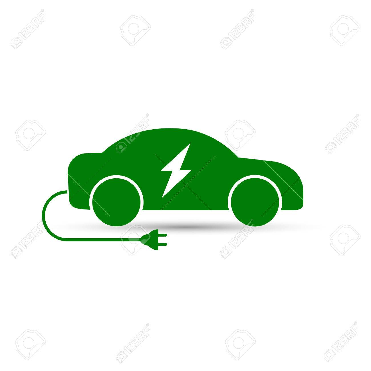 electric car icon vector side view of electric eco car royalty rh 123rf com car icon vector white car icon vector png