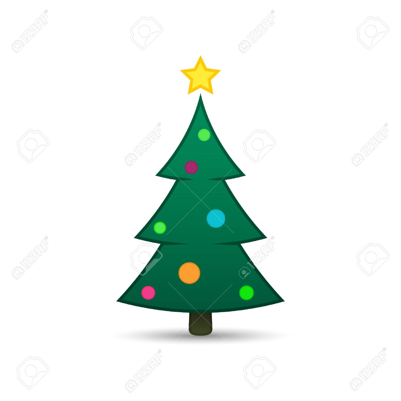 Christmas Tree Icon.Christmas Tree Icon Vector Simple Design Green Fir Tree With