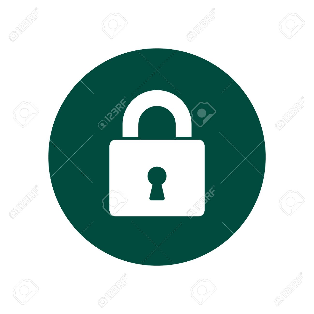 Lock Logo Vector Padlock Security Symbol For Web Site Design