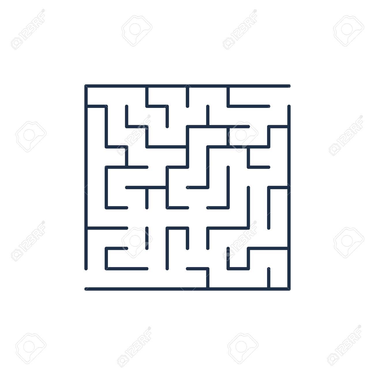 ベクトル簡単迷路 迷路や迷宮入り口と出口に のイラスト素材 ベクタ Image