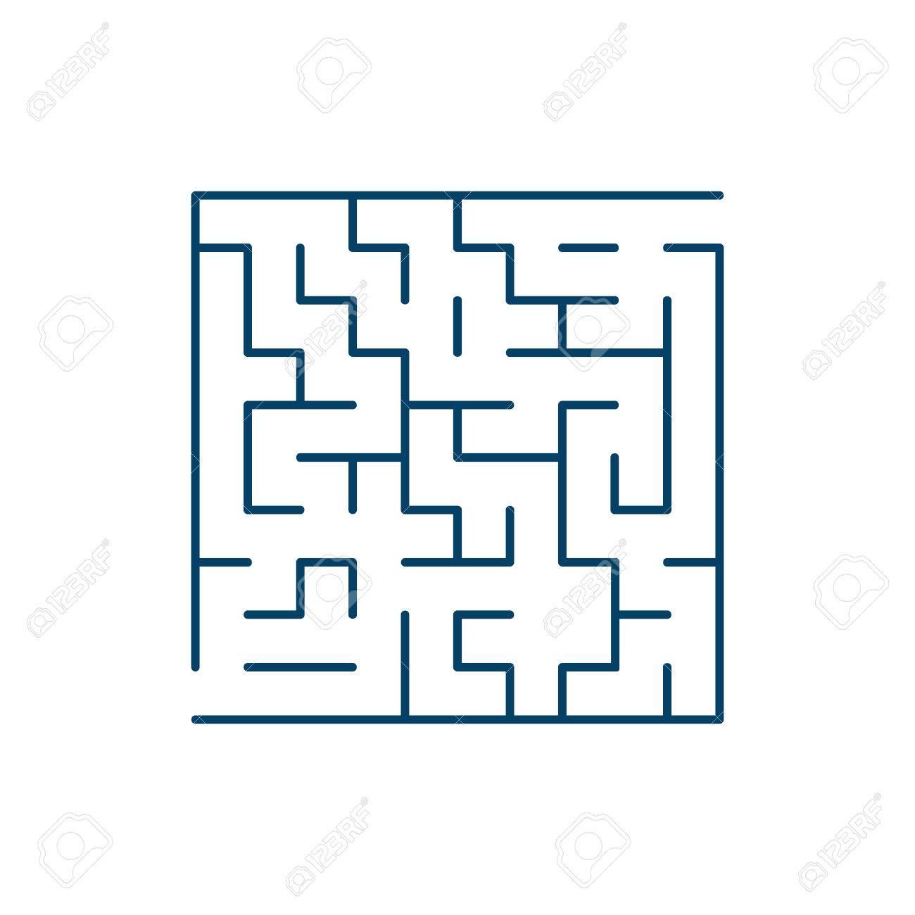 ベクトル簡単迷路 迷路や迷宮 ベクトル のイラスト素材 ベクタ Image