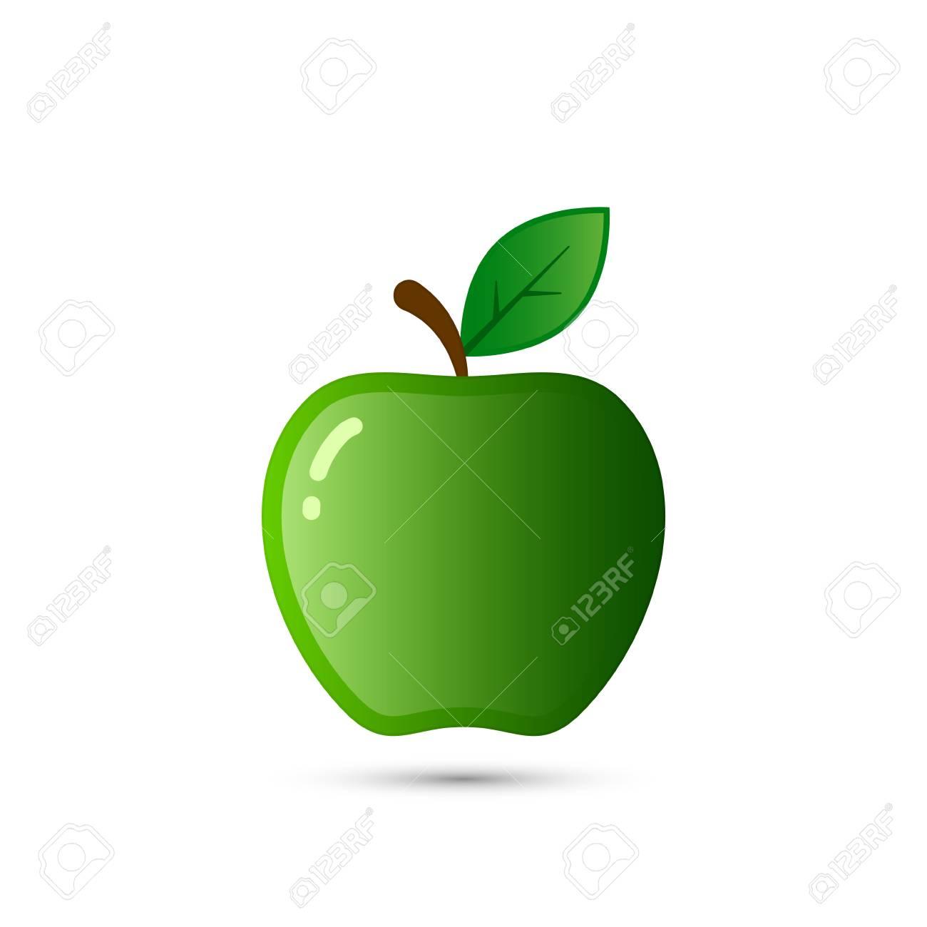 Vettoriale Illustrazione Di Apple Isolato Su Sfondo Bianco