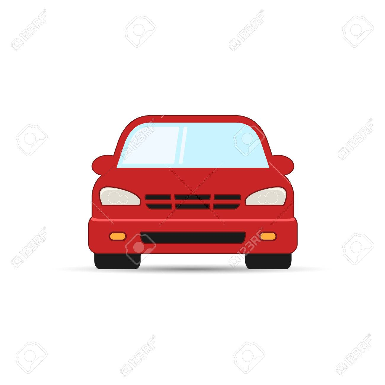 Car Vector Illustration Front View Simple Car Icon Royalty Free
