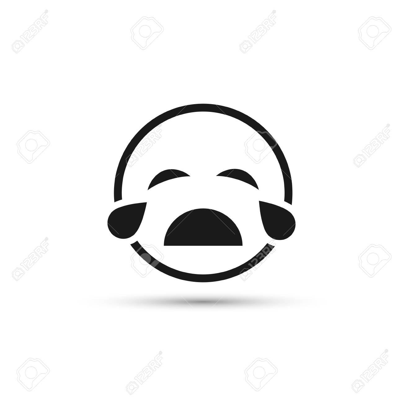 Icone De Ligne Smiley Qui Pleure Emoticone Unique De Vecteur Isole Clip Art Libres De Droits Vecteurs Et Illustration Image 74339501