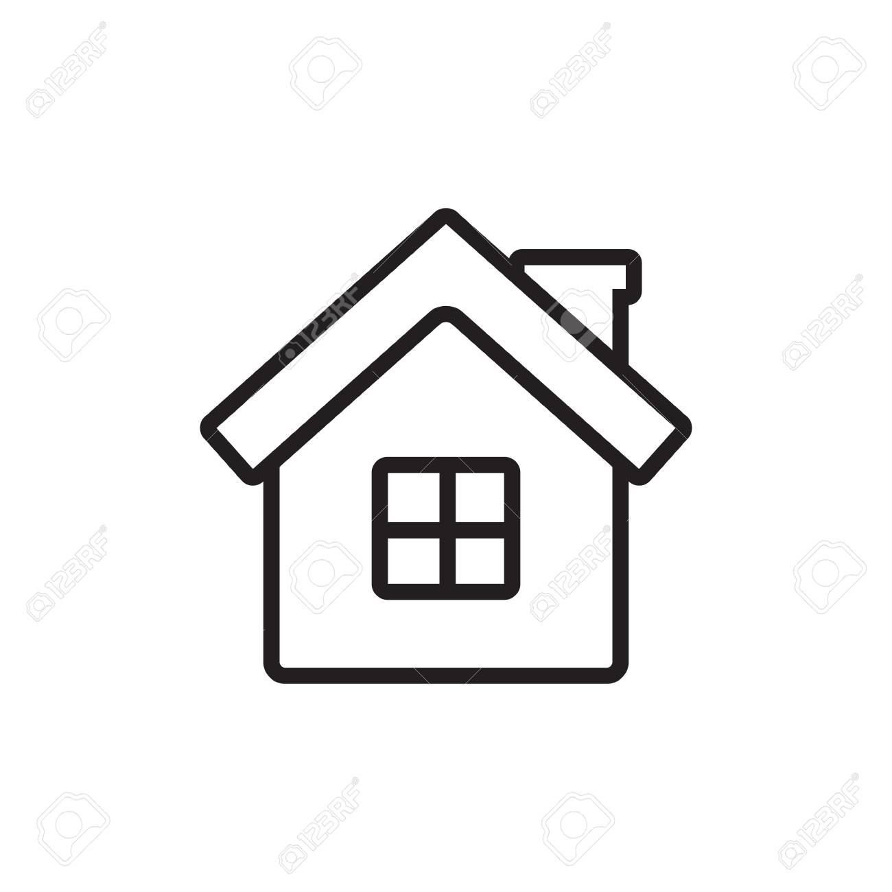 Home Vector Icon For Web Mobile Applications And Print Media Outline House Simple