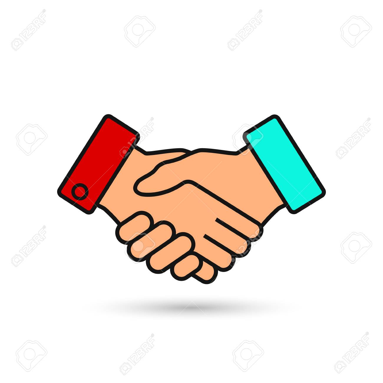 handshake business vector illustration symbol of success deal rh 123rf com handshake vector illustration handshake vector image
