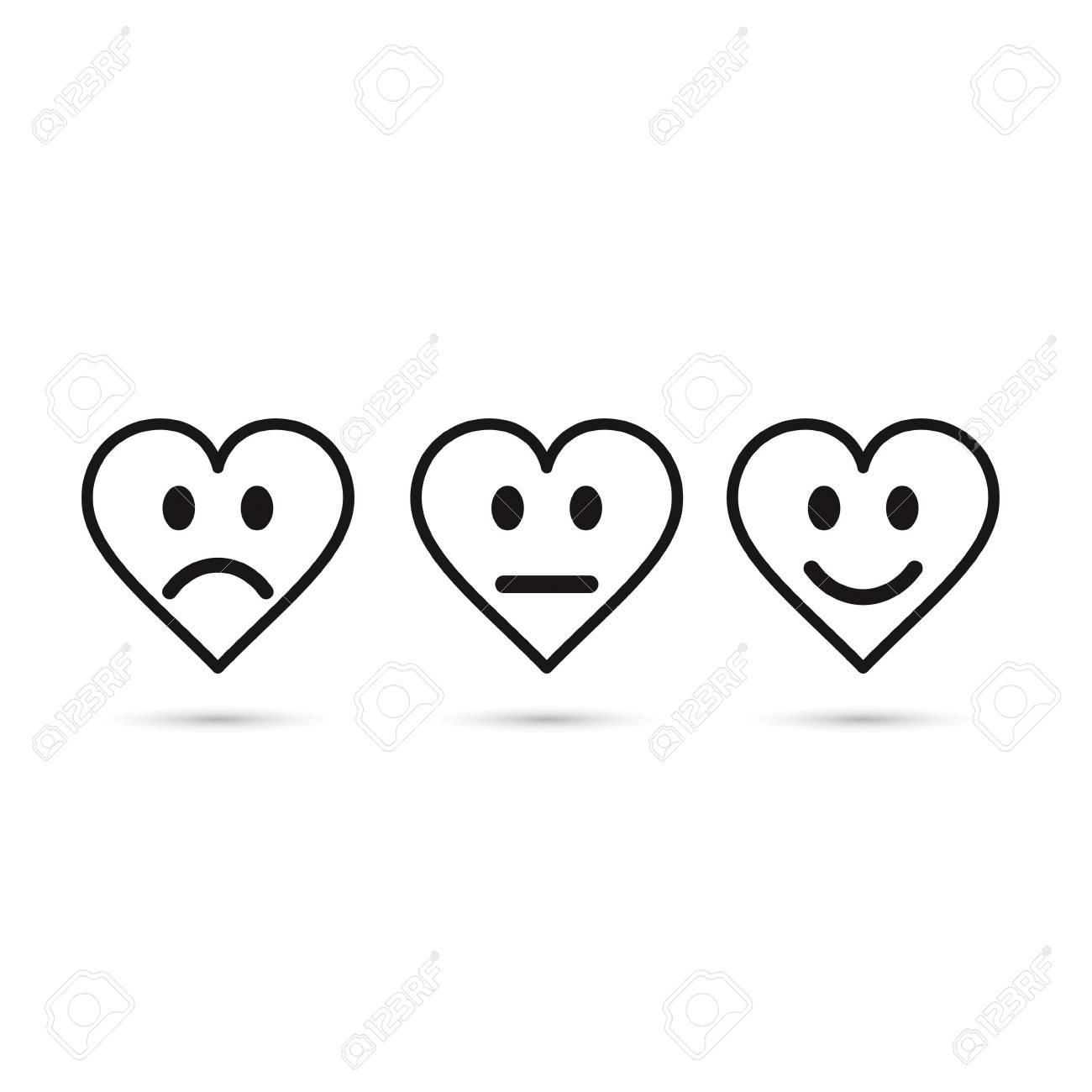 Heart Emoticon Evaluation Line Icon Feedback Symbol Heart With