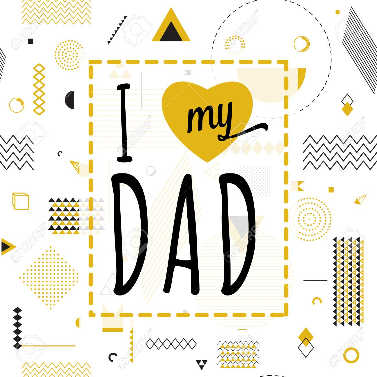 happy fathers day wishes design vector background on seamless