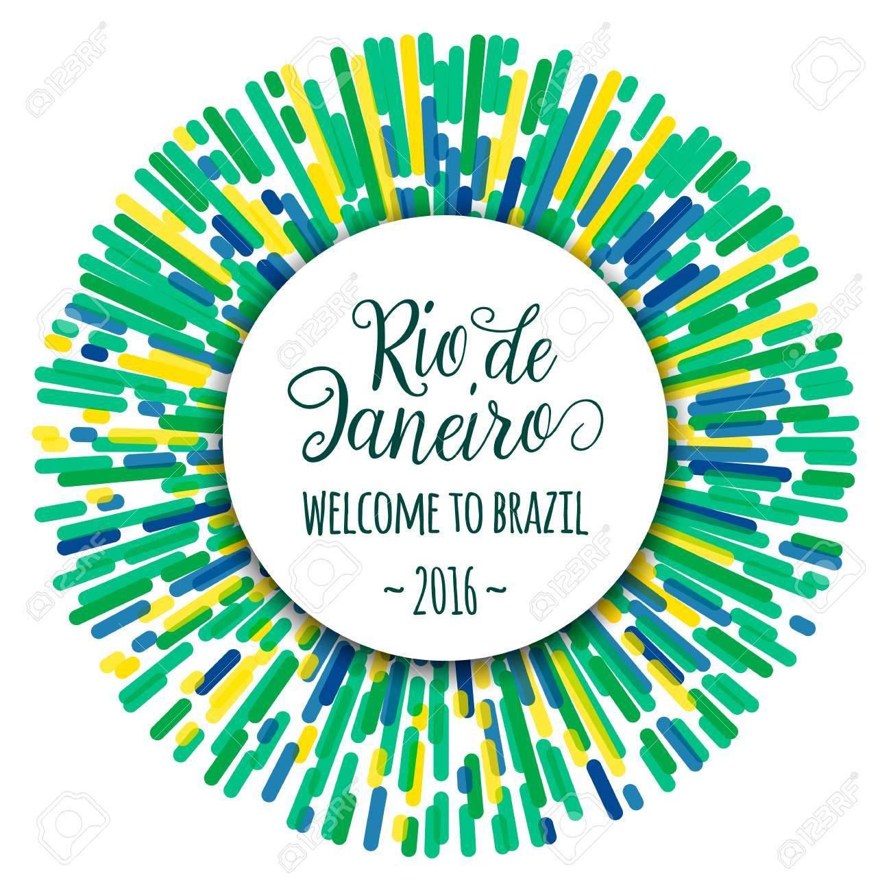 Lettering Motivation Quote Text Sign Rio De Janeiro Welcome To Brazil 2016 Template Felicitation Card