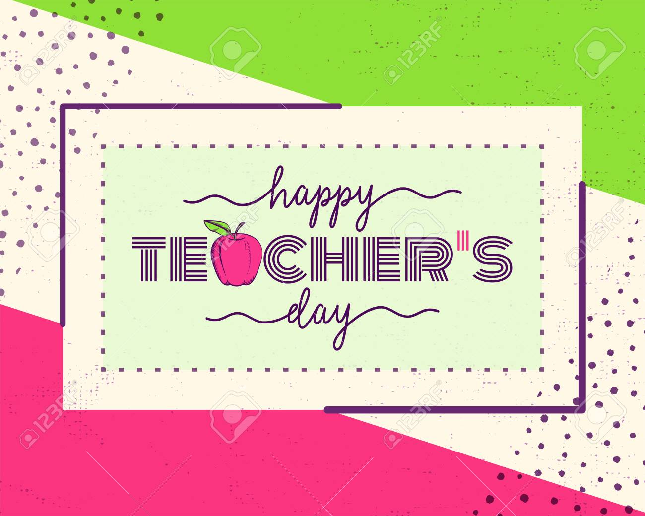 Vector illustration of happy teachers day greeting design for vector vector illustration of happy teachers day greeting design for print card m4hsunfo