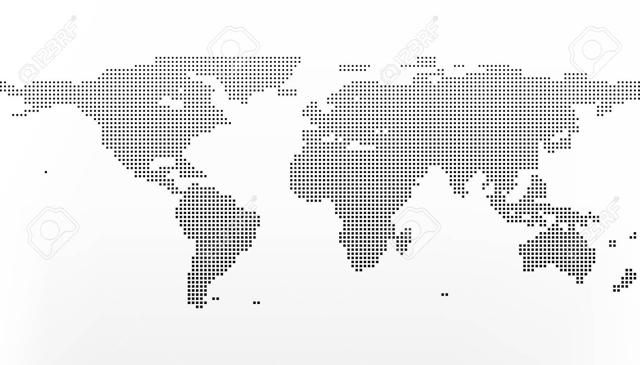 World map in squares earth business concept in flat style isolated vector world map in squares earth business concept in flat style isolated on white gumiabroncs Image collections