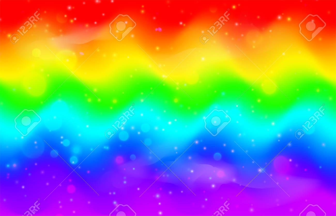 115075364 rainbow wave background mermaid unicorn galaxy pattern with shiny dots particles bright vivid pink b