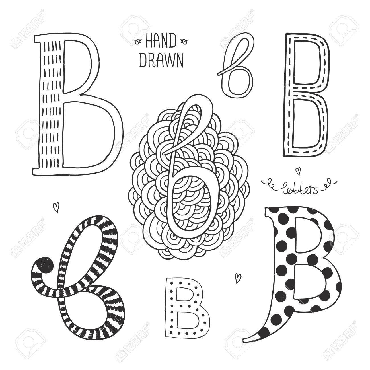 Vector hand drawn alphabet letter b doodle letters set isolated vector vector hand drawn alphabet letter b doodle letters set isolated on white background altavistaventures Image collections